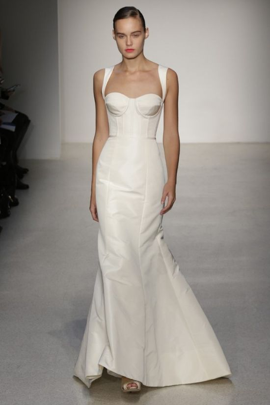 amsale bustier wedding dress 2013