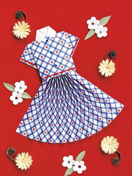 Skirt & Stripe Blouse Handmade Card