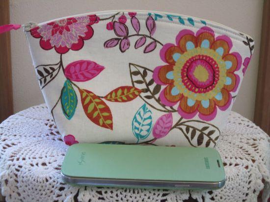 Shabby Medium Cosmetic Bag Clutch Purse by Antiquebasketlady, $16.50
