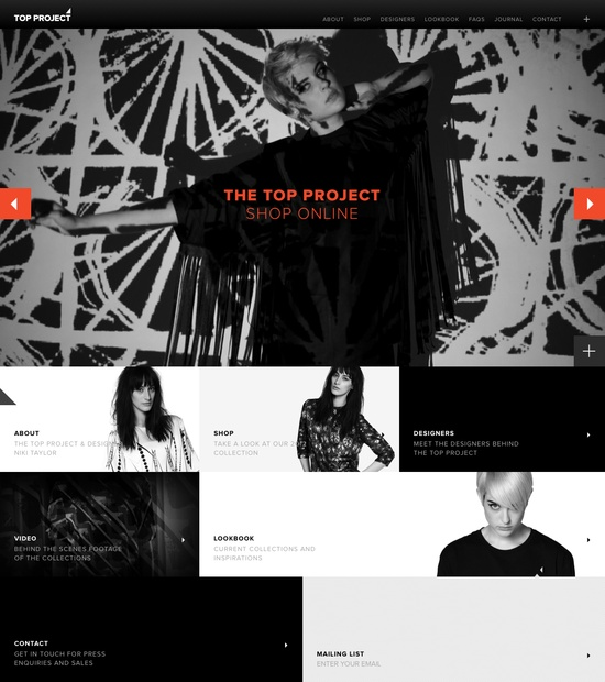 The Top Project website