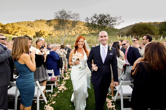 Elisa Donovan carried some ravishing pearl roses. – Celebrity Wedding Bouquets