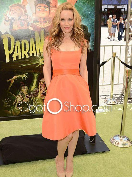 Orange Natural Celebrity Dress