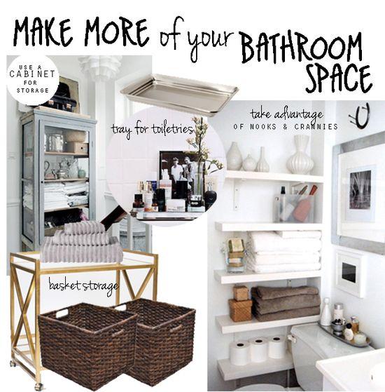 ideas for bathroom organization