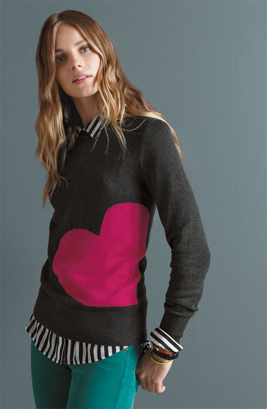 Your Best Friend: Caslon® Patterned Crewneck Sweater #Nordstrom #Holiday #Gift