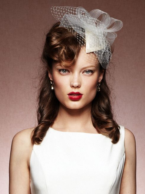 Hair & Makeup: The Lady Look by BHLDN. Oh lady, how your fiery lips and forties-inspired coif do enchant #BHLDN #Tutorial #Wedding #Makeup
