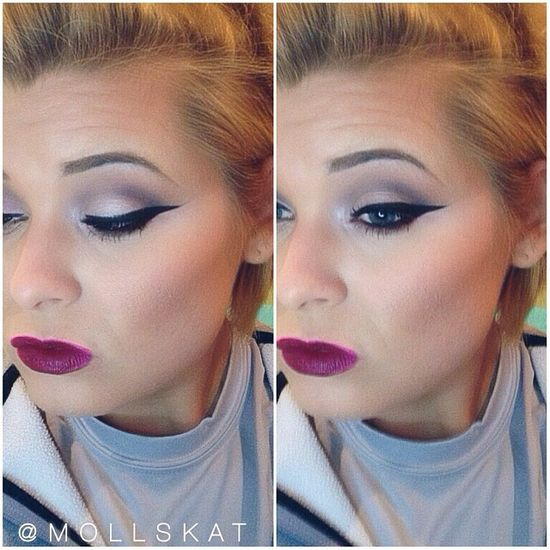 bold lips and soft eye makeup