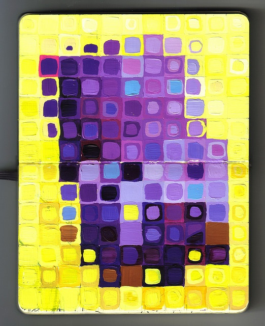 Chuck Close-inspired painting lesson