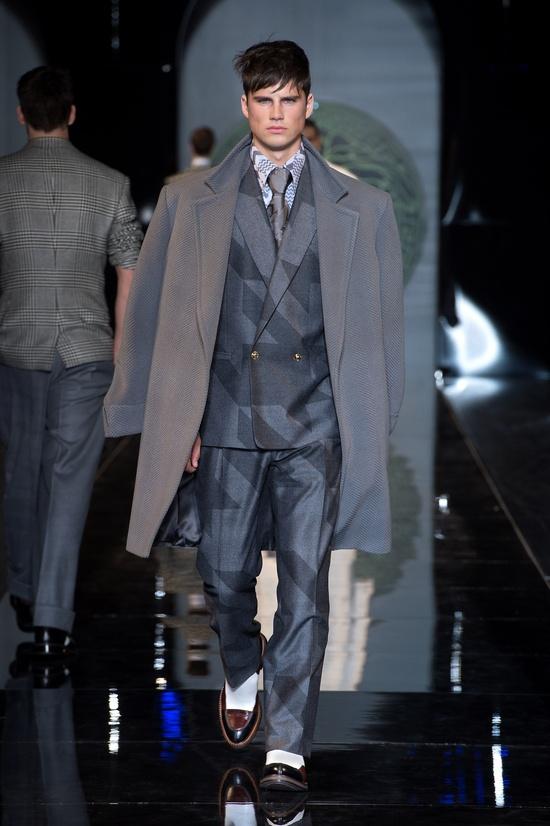 #Coat#Suit - Versace Men's Fall Winter 2013