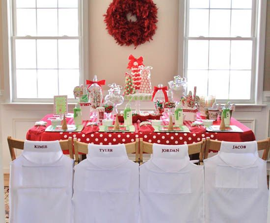 Childrens Christmas Party Table
