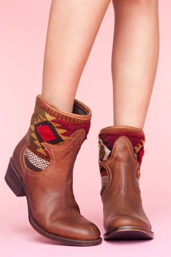 Ethnic Ankle Boots