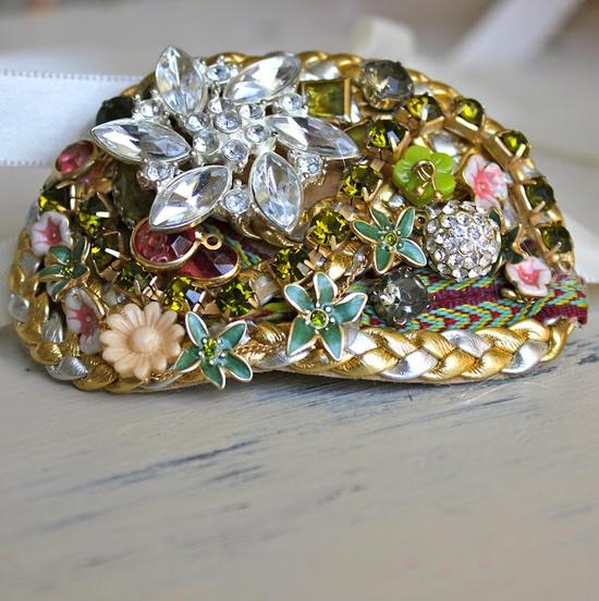 Whoa. // #DIY cuff bracelet from old costume jewelry
