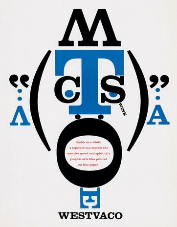 Bradbury Thompson. Cover for Westvaco Inspirations brochure, 1988.
