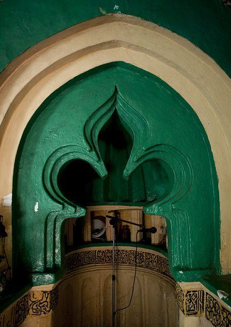 Pulpit in Kizimkazi mosque, Zanzibar, Tanzania