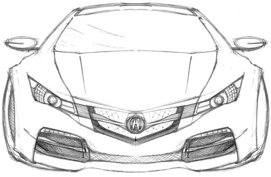 Sport Cars Acura Coloring Page