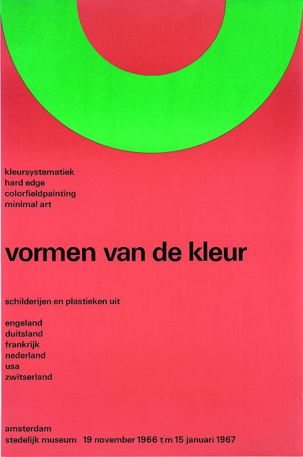 Poster Forms of color SM 1966 — Wim Crouwel