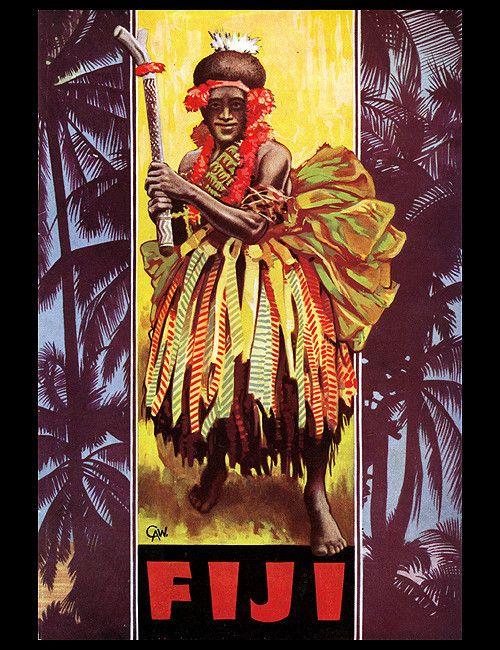 1940s Fiji #vintage #travel #poster