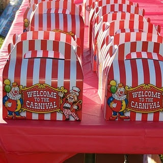 Carnival Party Favor Box