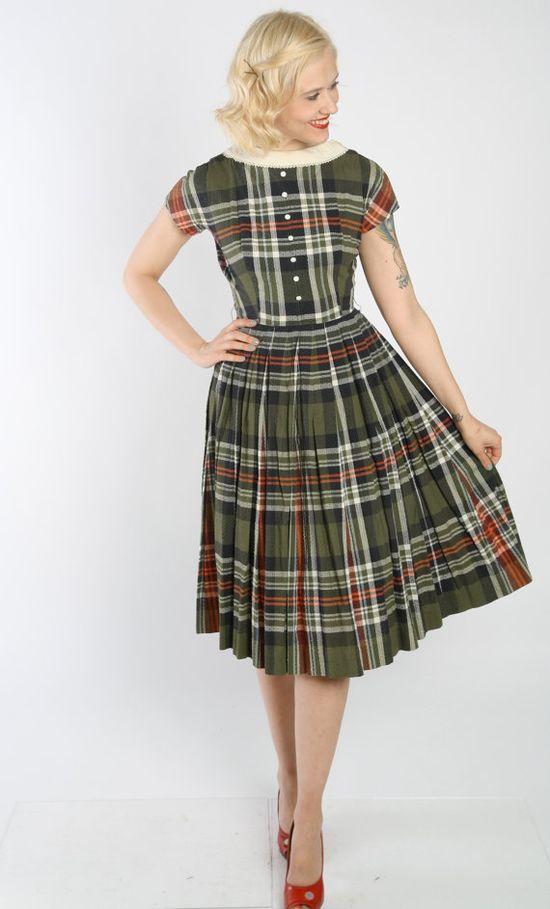 Reserved // 1950s Dress // vintage 50s Jonathan by dethrosevintage