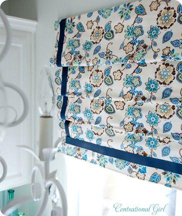 roman shade. Good Link w/Instructions, 02/10/13... CAH #centsationalgirl #curtain #sewing
