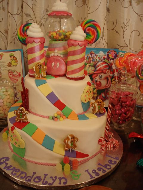 Idea for 1st birthday party!!  Candy-land theme :)