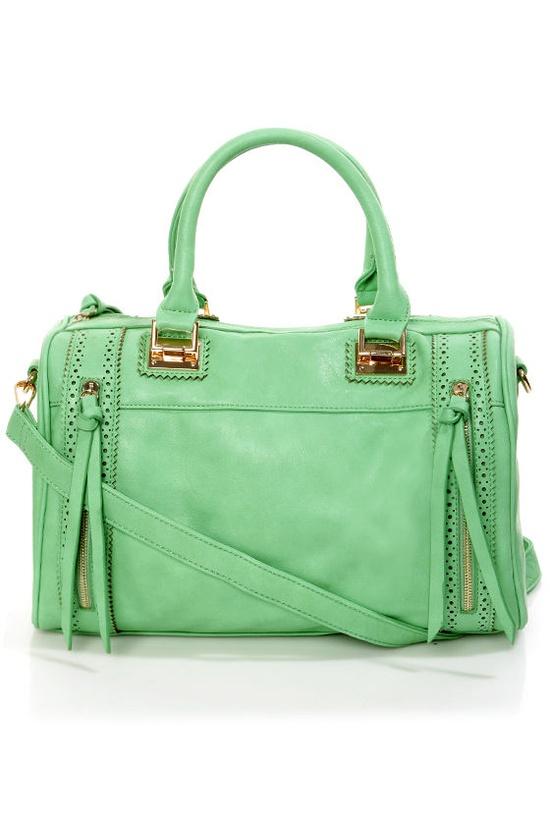 Roomy Mint Green Handbag - Oversized Handbag - Structured Handbag - Mint Tote