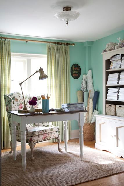 Love these colors, chair and cabinet. Especially for the office.