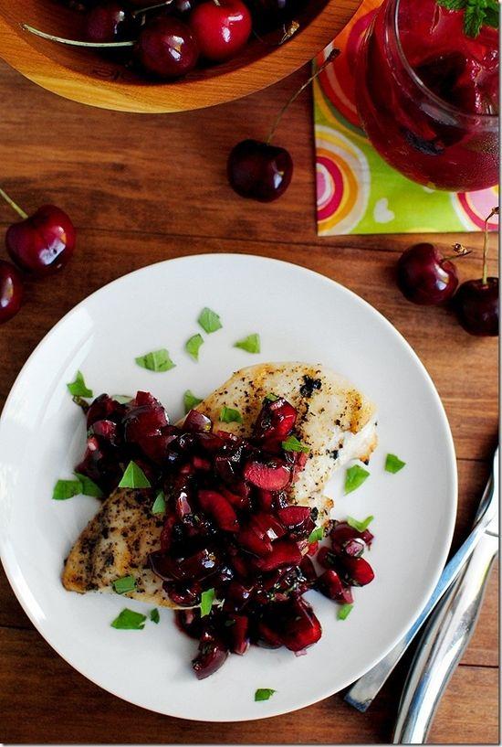 Grilled Chicken with Fresh Cherry Salsa