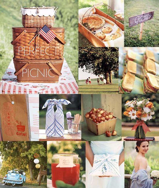 Picnic wedding