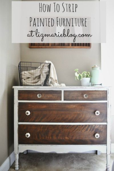 How To Strip Painted Furniture with before & after photos, a list of tools you will need, & a product review of a great furniture stripper.