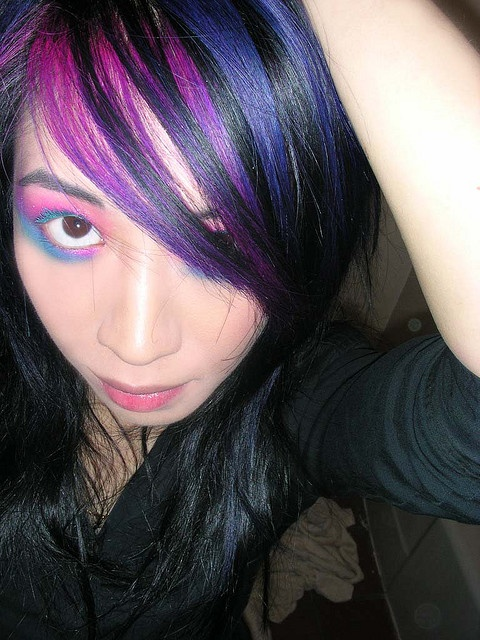 pink, blue, purple