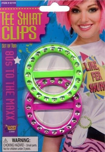 T-shirt clips popular in the 80's