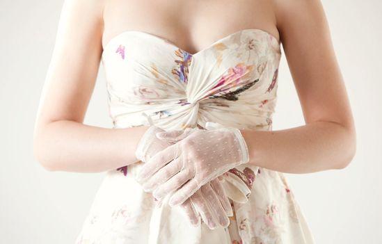 Lovely - Bridal Gloves. $55.00, via Etsy.