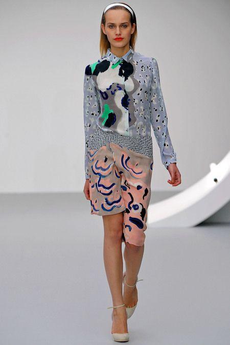 print patchwork at Michael Van der Ham #ss2013trends #patchwork #LFW #fashion #trends