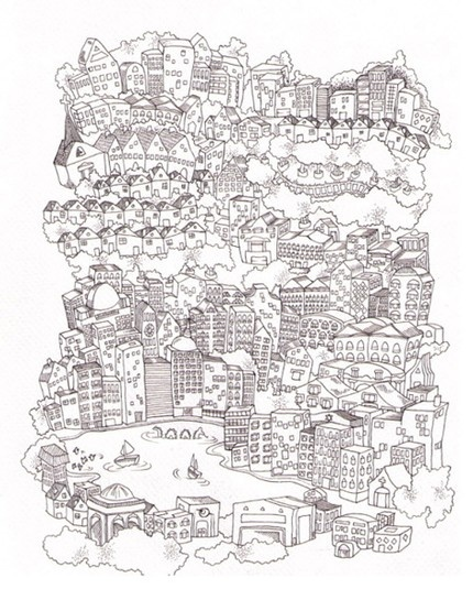 Oaktown giclee print: by bay area illustrator madalynn priester.