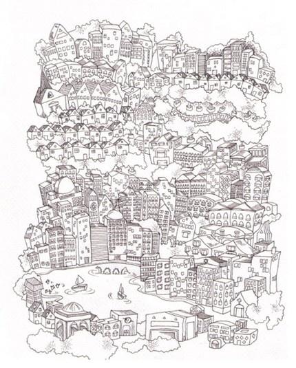 Oaktown giclee print: by bay area illustrator madalynn priester.
