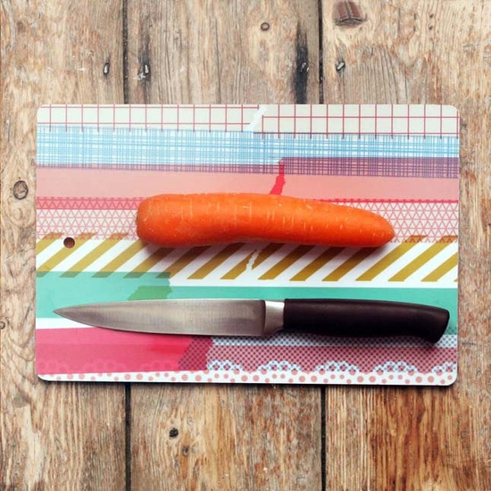 Washi chopping / serving board ~ mrs eliot books