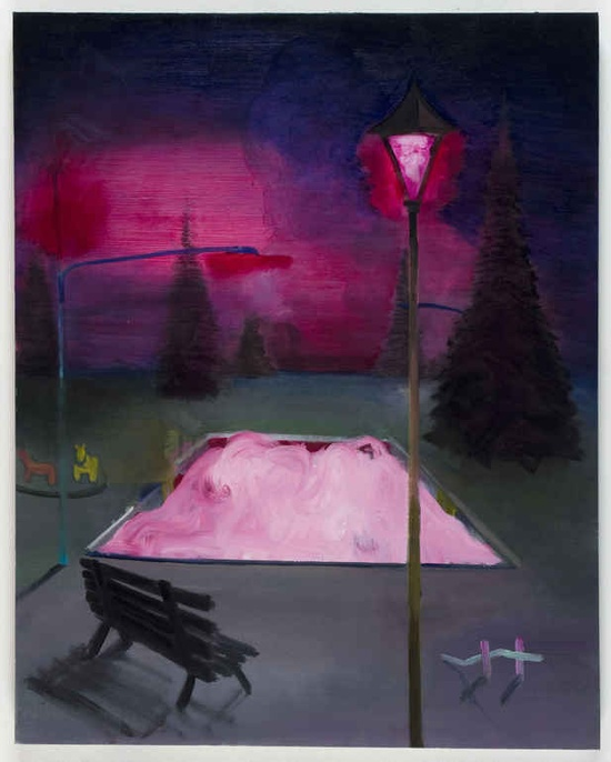"Simon Rosenthal; Oil, Painting ""Pink Pool"""