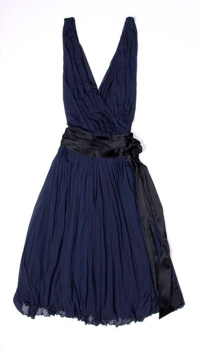 Navy Silk Diane Von Furstenberg Dress