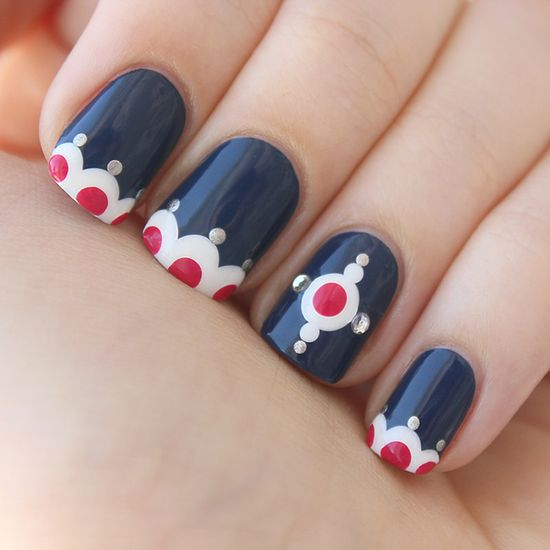 zigzagnails:  Dot Dot Dot nail art My entry for Chalkboard Nails nail art contest By: ZigZagNails