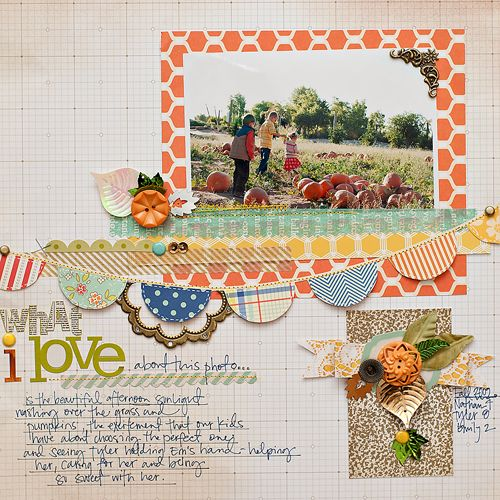 #papercraft #scrapbook #layout Love the banner