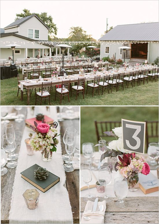 outdoor reception table decoration ideas