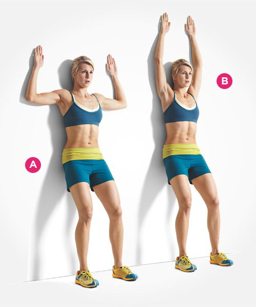 Don't be deceived: Wall slides take some serious core strength. Click through for directions PLUS 9 more ab exercises that beat crunches: www.womenshealthm...