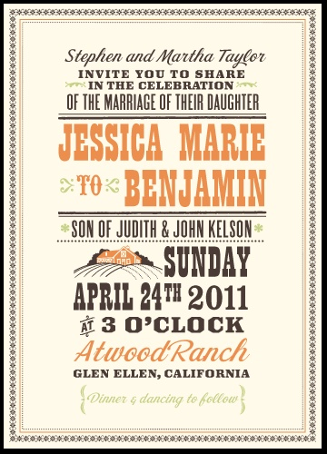 The general design of our wedding invitations. Hello!Lucky is a great, small graphic design company in San Fran.