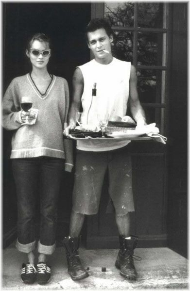 Kate Moss & Johnny Depp. Must have been around the time Aaron's stepdad sold this famous couple an antique gun back in the day.