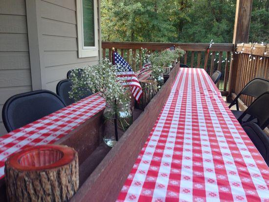 Table centerpiece for Bobbie Jo's Texas Picnic