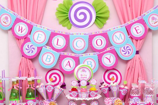 Candyland Baby Shower.  See more party ideas at CatchMyParty.com.  #candyland #babyshower