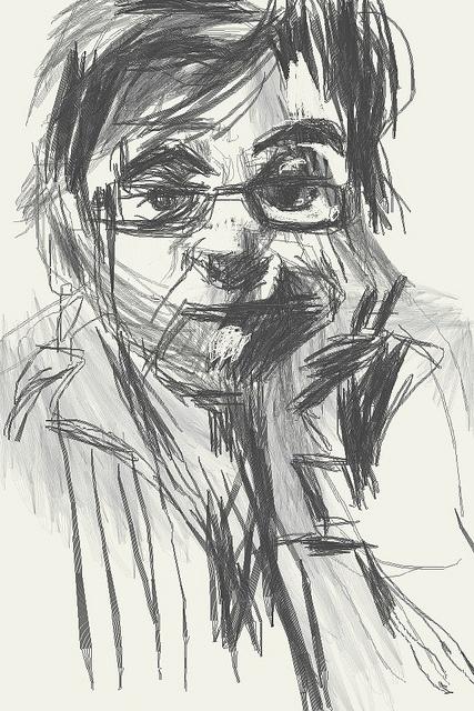 iphone drawing - Ana by Manuel San-Payo, via Flickr