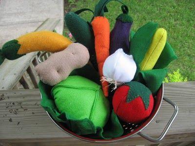 felt veggies diy #felt #diy