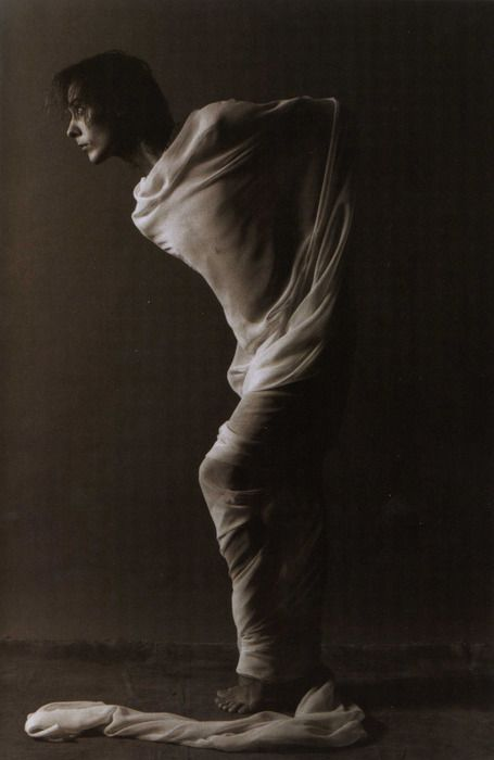 I have always loved this photograph of Peter Murphy. I wonder who took it.