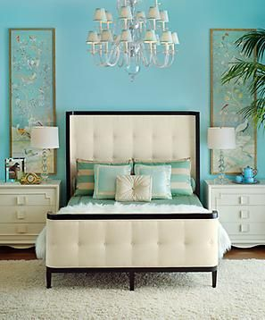 Pretty colors for a beach master bedroom!